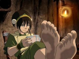 Toph Bei Fong by CartoonGirlsFeet2