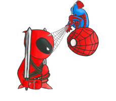 Omnomnom Spideypool by That--Weirdo