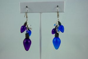 Christmas Lights Earrings I by michelleaudette