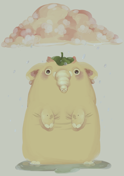 The Puddley Mammoth by pompon-chan