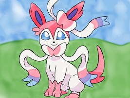 365 Days of Drawing Day 13: Cute Sylveon by HurricaneChiela