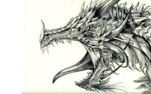 13001 1 Other Wallpapers Dragonm Drawing by mortimus66