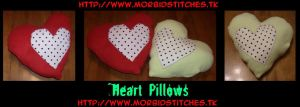 Heart Pillows by morbid-stitches