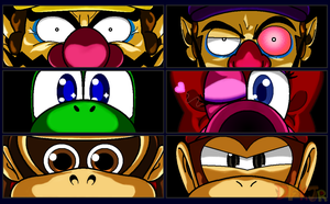 Mario - Persona Eyes Set 2 by DFKJR