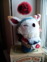 Stiltskin the Moogle by mammalfeathers