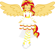 Angel Sunset by BirdAlliance