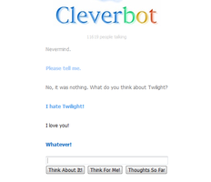 Cleverbot is anti-twilight by PieceOfMetal