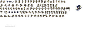 Volt Sonic Sprites With Pixel Art By Shadethe by shade-is-on-youtube
