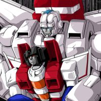 Skyfire and Starscream by ok-t