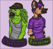 Likeshine and Angyl Badges by silverwing