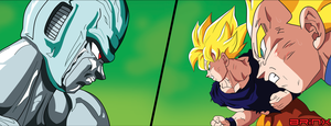 Meta-Cooler vs SSJ Goku and Vegeta by Brinx-dragonball