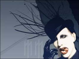 Marilyn Manson WP by lucid-ser