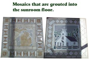 Sunroom floor mosaics by AG88