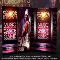 XCLUSIVE SATURDAYS FLYER -PSD- by retinathemes
