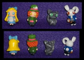 Alice in Wonderland Charms by Geisha-Neko