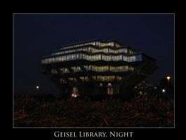 Geisel Library, Night by unknowninspiration