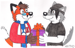 A little gift for Drake by AnthoFur