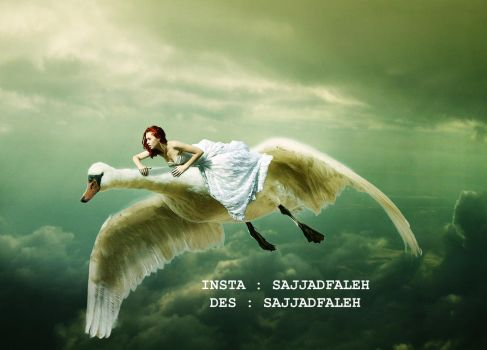 Photoshop manipulation | The girl and the Geese by sajjadfaleh