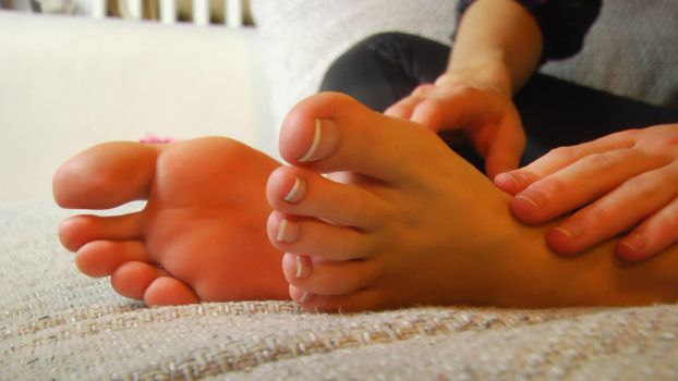 touching ankles by JelisaRose-Feet