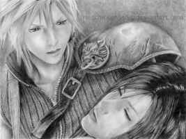 Cloud and Tifa by friedChicken365