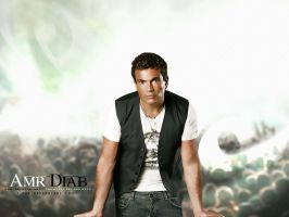 Amr Diab White Wall by t-fUs
