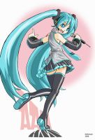 Hatsune Miku Fan Art by RedShoulder