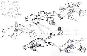 dropship sketches by ravager3