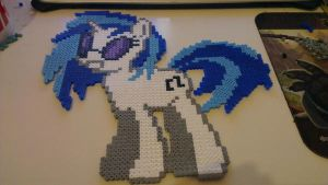 DJ Pon-3 Vinyl Scratch Hama Beads by Laggingpepper