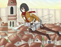 Shingeki no Kyojin - Mikasa by AngelOfLight98