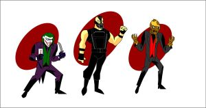 batman villains, animated series stile by CrimsonFace