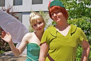 Peter Pan and Tinkerbell by Daishota