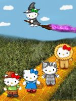 Hello Kitty goes to see the Wizard by Rene-L
