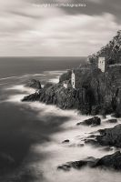 Crown Tin Mines in BnW by GMCPhotographics