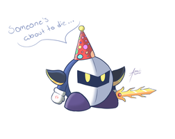 Request: Metaknight With a Party Hat by amaitsuno