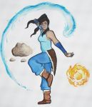 Korra - Master of the Elements by Pech-Misfortune
