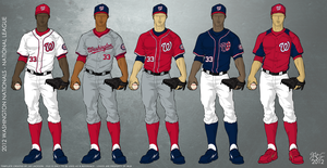 Washington Nationals 2012 Uniforms by JayJaxon