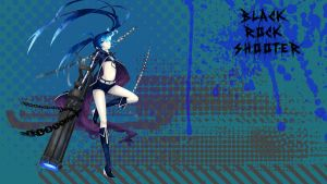 Black Rock Shooter dots (ninja wallpaper) by editingninja