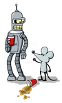 Bender and Rat by rattyratterooze