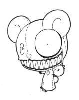 teddy bear from hell by mugaru