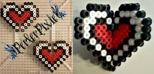 3D Heart Container by PerlerPixie
