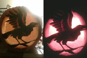 Raven Silhouette Pumpkin by Andagora