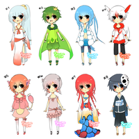 3rd Gen Pokemon Gijinka Adoptables Auction[CLOSED] by Ryu-Umi