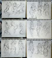 184 - 203 (1000 gesture drawing challenge) by anime-master-96