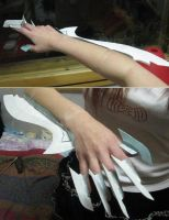 Masane's arm in progress by Viveeh