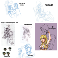 doodle dump and WIPs by roseannepage