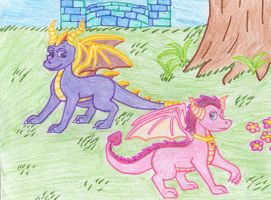 Spyro and Ember by onelilmonkey654