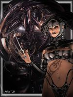 Cyber Xena by Aral3D