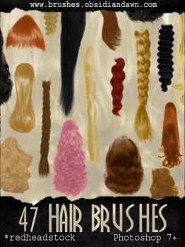 GIMP Hair Brushes by Project-GimpBC