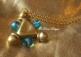 Custom made Zora Sapphire Necklace Zelda OoT by TorresDesigns