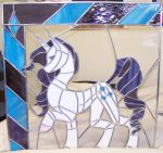 Rarity Stained Glass Window by Miss-Vicki-Vicki